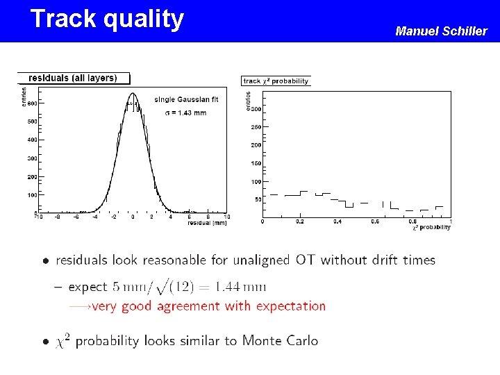 Track quality Manuel Schiller