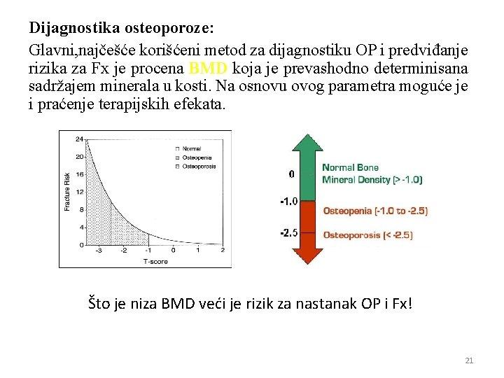 Dijagnostika osteoporoze: Glavni, najčešće korišćeni metod za dijagnostiku OP i predviđanje rizika za Fx