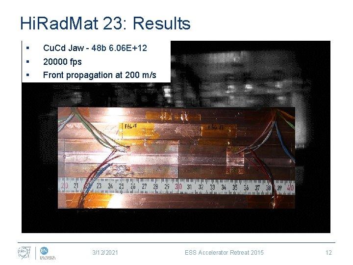 Hi. Rad. Mat 23: Results § Cu. Cd Jaw - 48 b 6. 06
