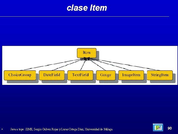 clase Item • Java a tope: J 2 ME, Sergio Gálvez Rojas y Lucas