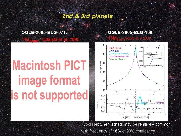 2 nd & 3 rd planets OGLE-2005 -BLG-071. 1 MJupiter , Udalski et al.
