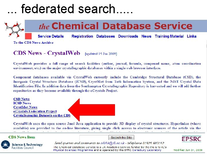 . . . federated search. . .