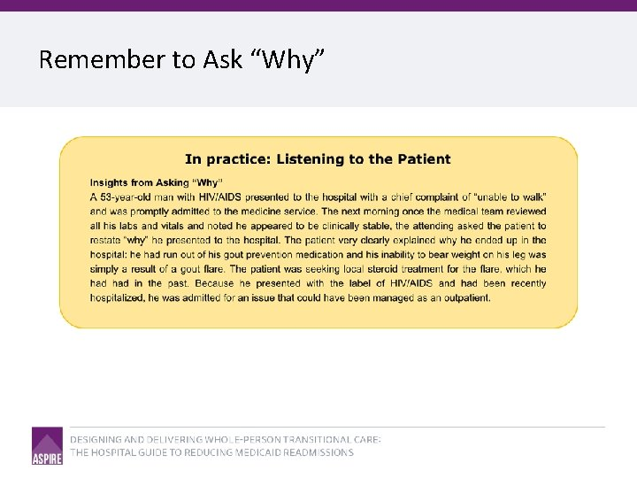 """Remember to Ask """"Why"""""""