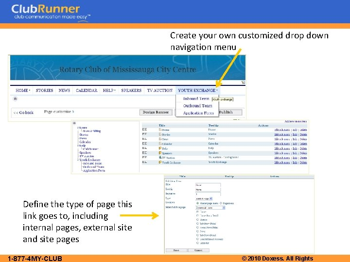 Create your own customized drop down navigation menu Define the type of page this