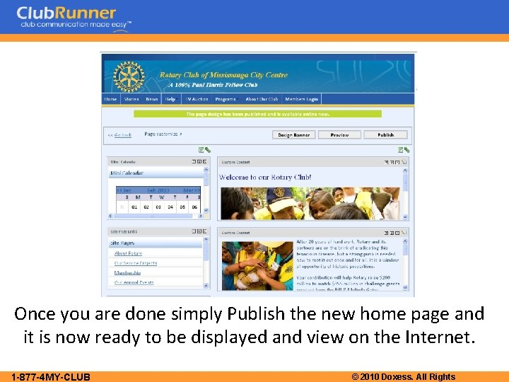 Once you are done simply Publish the new home page and it is now