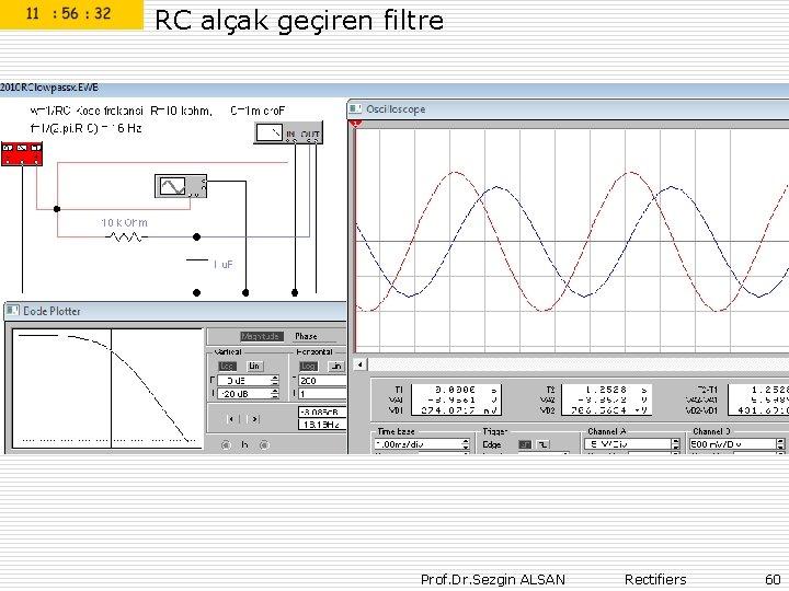 RC alçak geçiren filtre Prof. Dr. Sezgin ALSAN Rectifiers 60