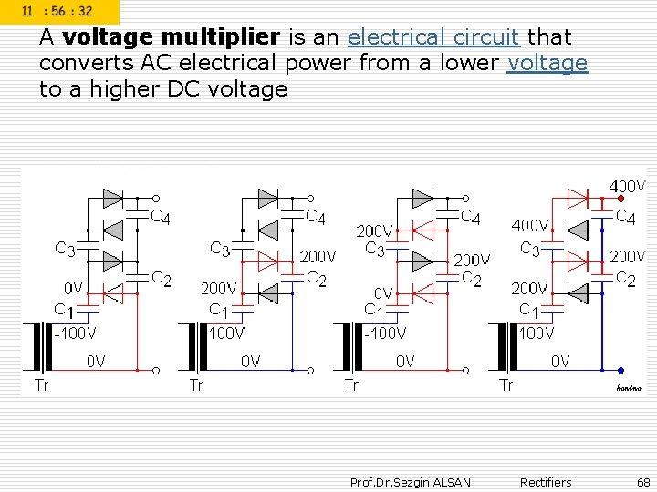 A voltage multiplier is an electrical circuit that converts AC electrical power from a