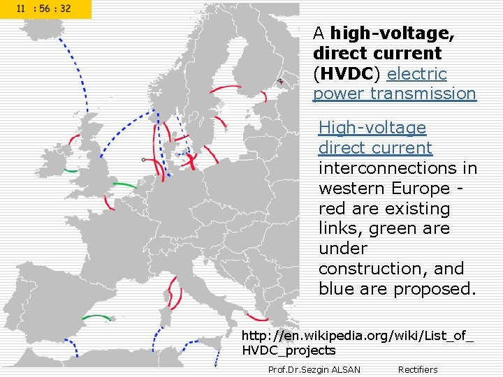 A high-voltage, direct current (HVDC) electric power transmission High-voltage direct current interconnections in western