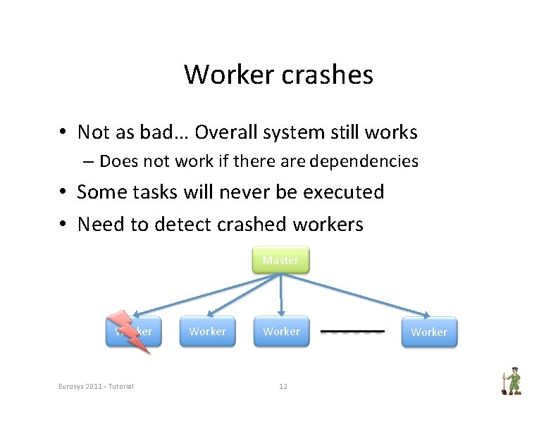 Worker crashes • Not as bad… Overall system still works – Does not work