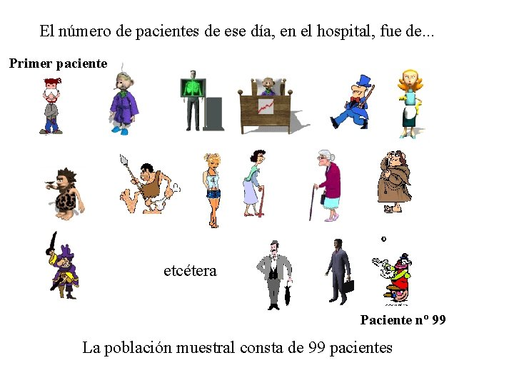 El número de pacientes de ese día, en el hospital, fue de. . .