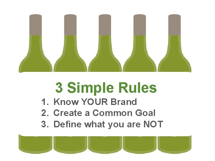 3 Simple Rules 1. Know YOUR Brand 2. Create a Common Goal 3. Define