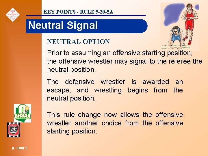 KEY POINTS - RULE 5 -20 -5 A Neutral Signal NEUTRAL OPTION Prior to