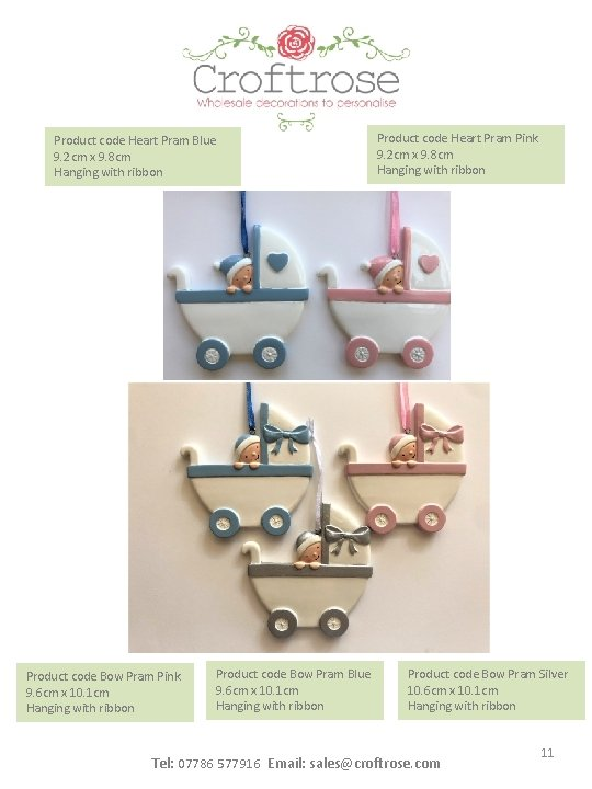 Product code Heart Pram Blue 9. 2 cm x 9. 8 cm Hanging with