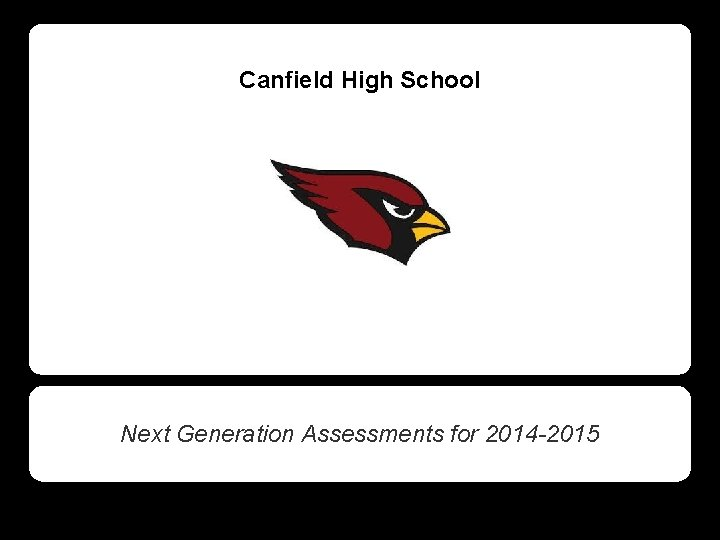 Canfield High School Next Generation Assessments for 2014 -2015