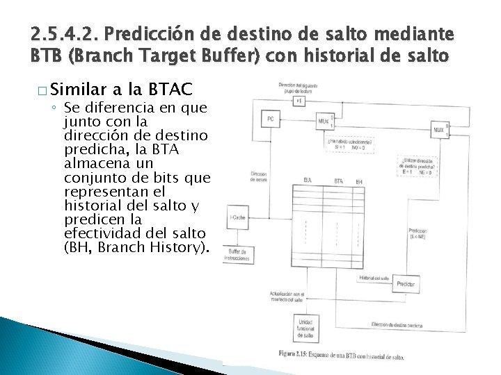 2. 5. 4. 2. Predicción de destino de salto mediante BTB (Branch Target Buffer)