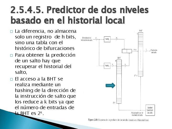 2. 5. 4. 5. Predictor de dos niveles basado en el historial local �