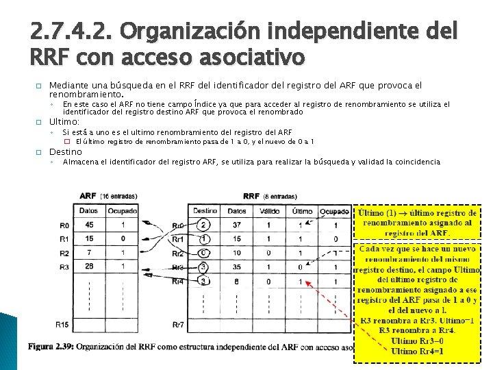 2. 7. 4. 2. Organización independiente del RRF con acceso asociativo � Mediante una