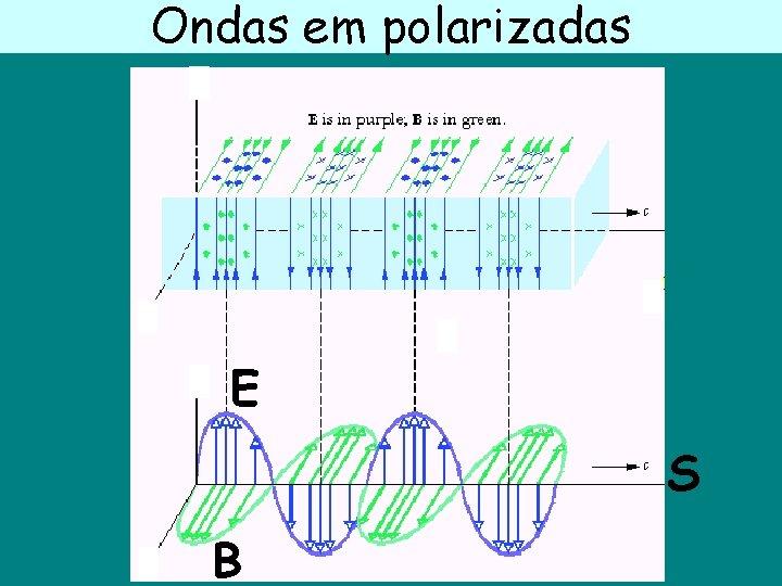 Ondas em polarizadas E S B
