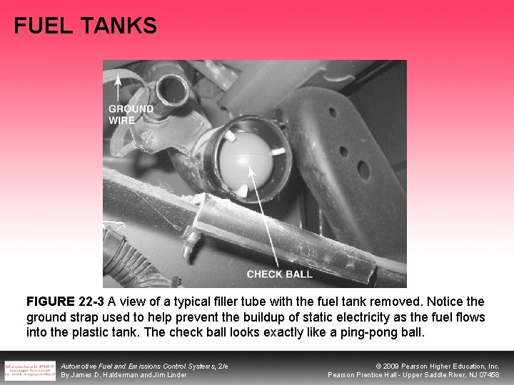 FUEL TANKS FIGURE 22 -3 A view of a typical filler tube with the