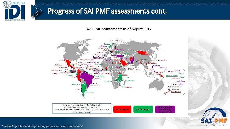 Progress of SAI PMF assessments cont. 10
