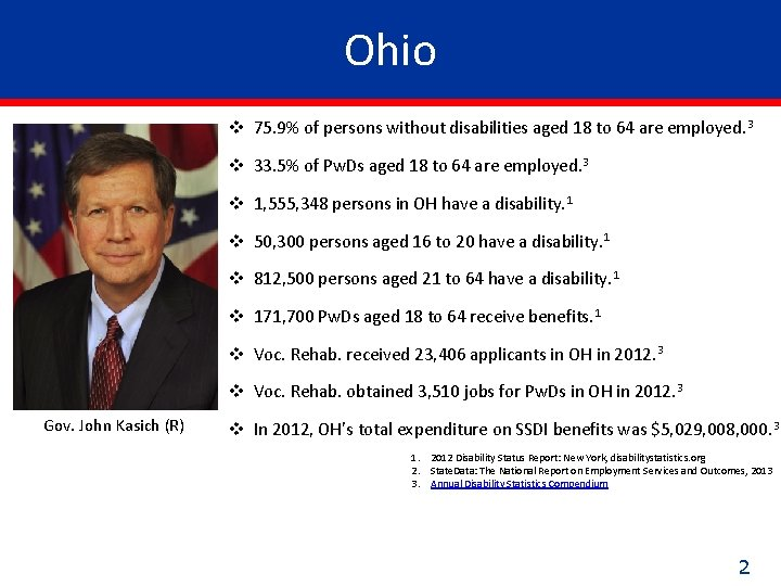 Ohio v 75. 9% of persons without disabilities aged 18 to 64 are employed.