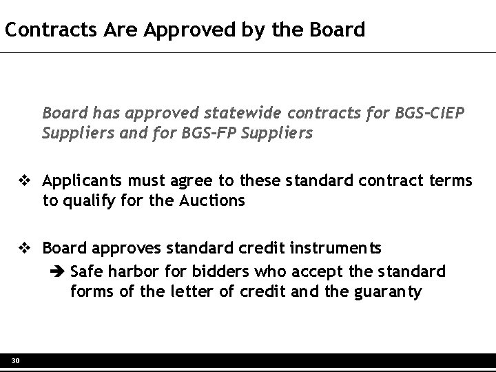 Contracts Are Approved by the Board has approved statewide contracts for BGS-CIEP Suppliers and