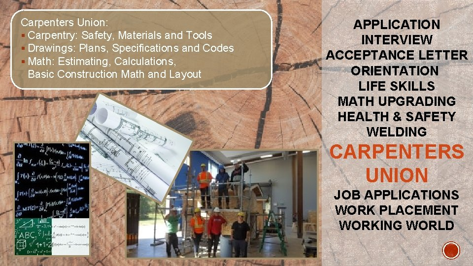 Carpenters Union: § Carpentry: Safety, Materials and Tools § Drawings: Plans, Specifications and Codes