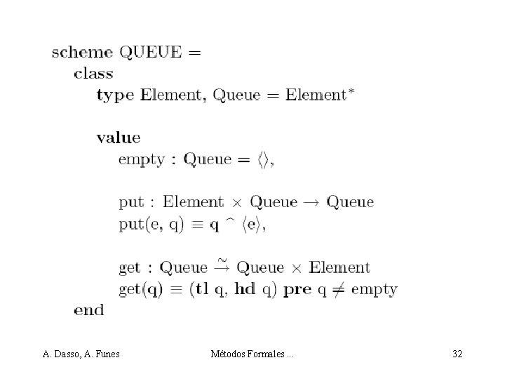 A. Dasso, A. Funes Métodos Formales. . . 32