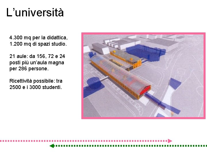 L'università 4. 300 mq per la didattica, 1. 200 mq di spazi studio. 21