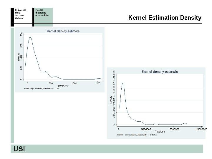 Kernel Estimation Density USI