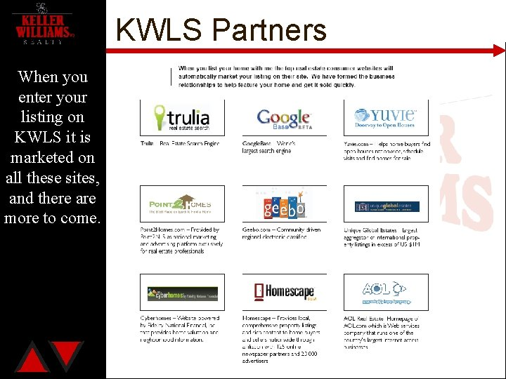 KWLS Partners When you enter your listing on KWLS it is marketed on all