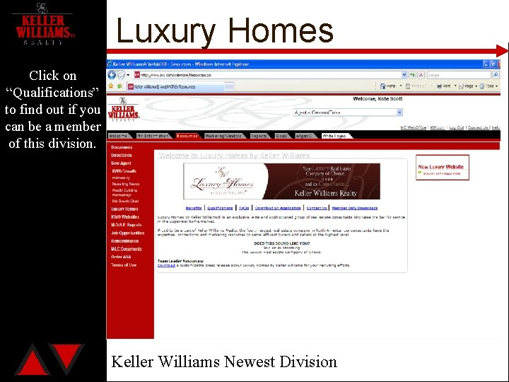 """Luxury Homes Click on """"Qualifications"""" to find out if you can be a member"""