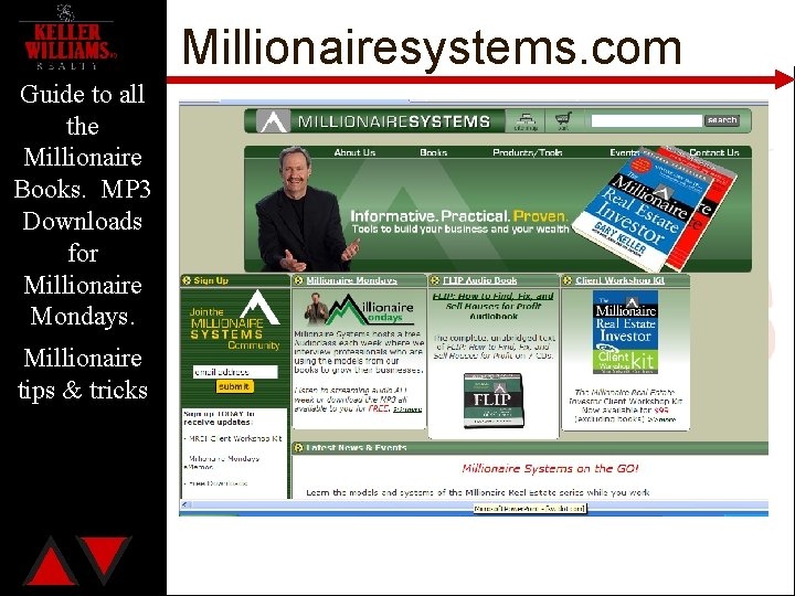 Millionairesystems. com Guide to all the Millionaire Books. MP 3 Downloads for Millionaire Mondays.