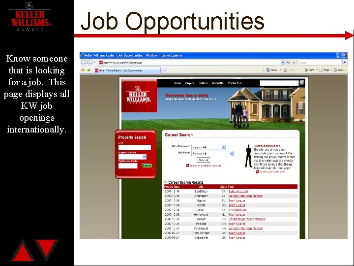 Job Opportunities Know someone that is looking for a job. This page displays all