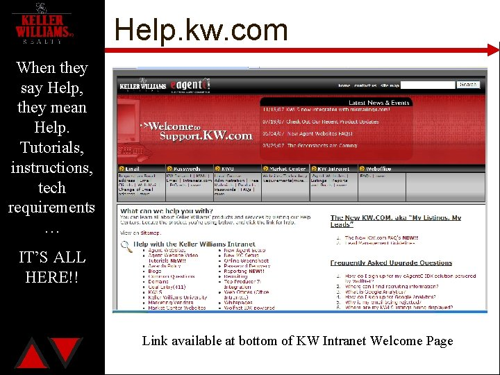 Help. kw. com When they say Help, they mean Help. Tutorials, instructions, tech requirements