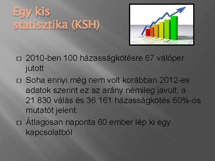 Egy kis statisztika (KSH) � � � 2010 -ben 100 házasságkötésre 67 válóper jutott