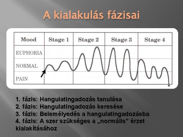 A kialakulás fázisai 1. fázis: Hangulatingadozás tanulása 2. fázis: Hangulatingadozás keresése 3. fázis: Belemélyedés