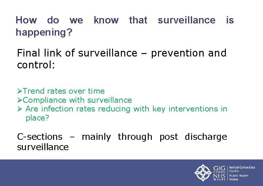 How do we happening? know that surveillance is Final link of surveillance – prevention