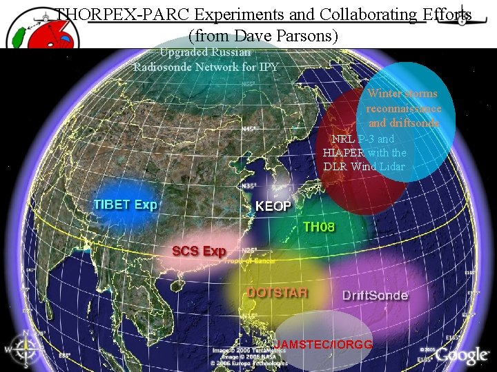 THORPEX-PARC Experiments and Collaborating Efforts (from Dave Parsons) Upgraded Russian Radiosonde Network for IPY