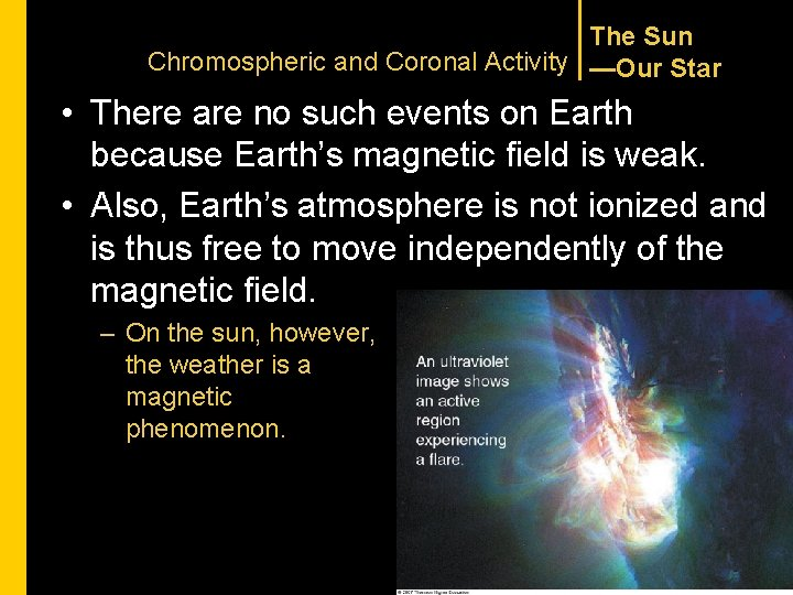 The Sun Chromospheric and Coronal Activity —Our Star • There are no such events