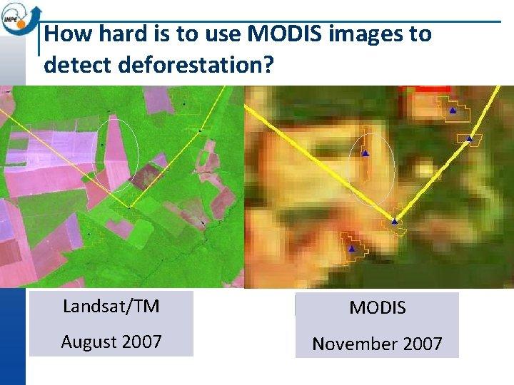 How hard is to use MODIS images to detect deforestation? Landsat/TM Alerta MODIS DETER