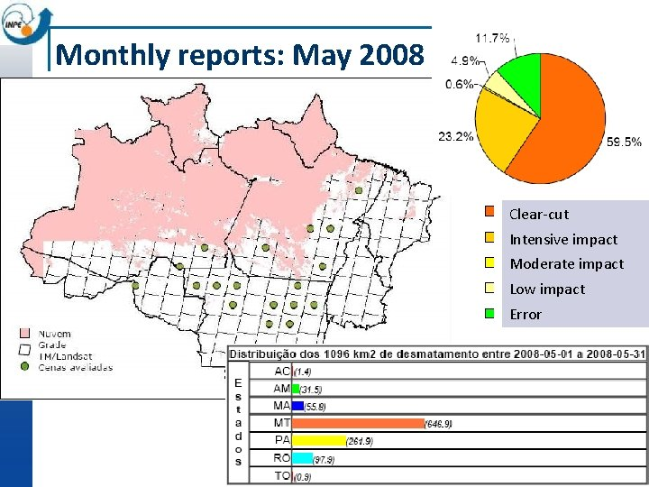 Monthly reports: May 2008 Clear-cut Intensive impact Moderate impact Low impact Error