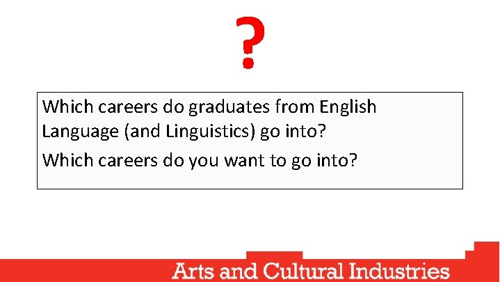 ? Which careers do graduates from English Language (and Linguistics) go into? Which careers