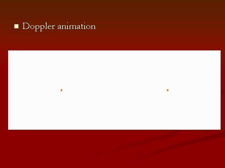 n Doppler animation