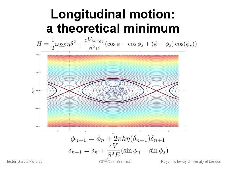 Longitudinal motion: a theoretical minimum Hector Garcia Morales OPAC conference Royal Holloway University of