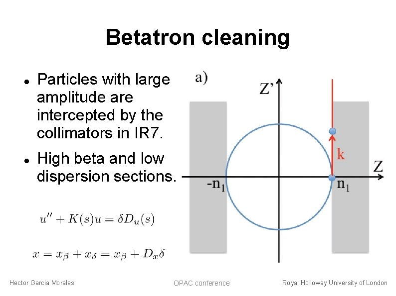Betatron cleaning Particles with large amplitude are intercepted by the collimators in IR 7.
