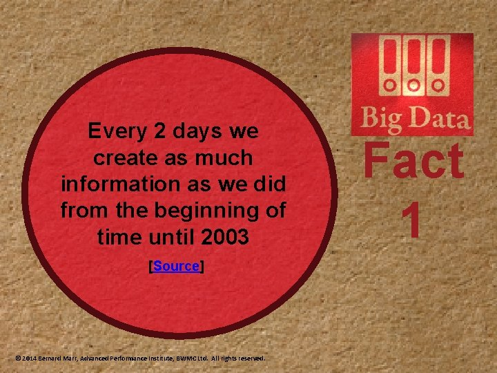 Every 2 days we create as much information as we did from the beginning
