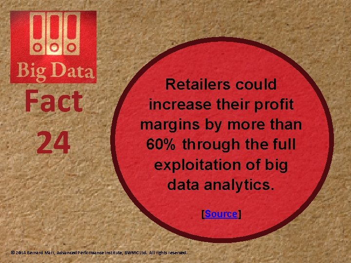 Fact 24 Retailers could increase their profit margins by more than 60% through the