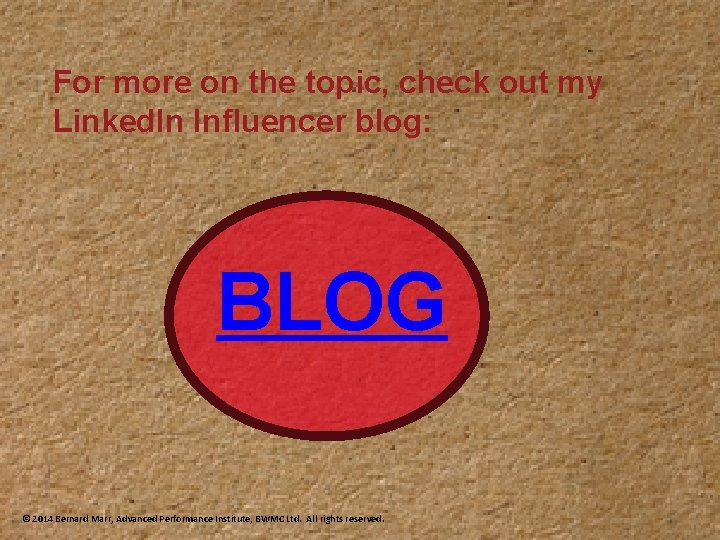 For more on the topic, check out my Linked. In Influencer blog: BLOG ©