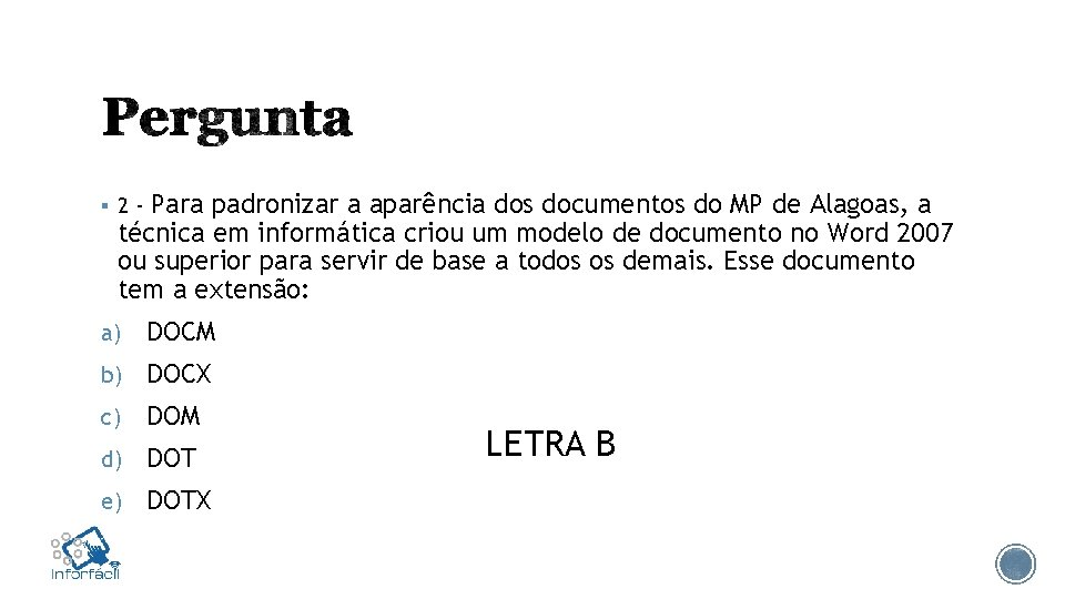 Para padronizar a aparência dos documentos do MP de Alagoas, a técnica em informática